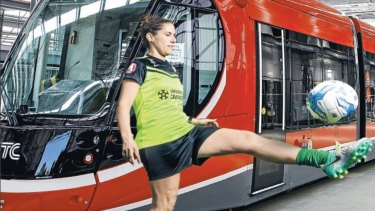 Caitlin Munoz will be a tram driver for Canberra's new light rail.
