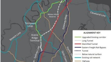 A two-year study is finalised to choose the most effective option to get rail freight from Acacia Ridge to the Port of Brisbane.