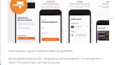 The Service Victoria app now displays QR code functionality.