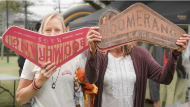 Boomerang Bags founders Jordyn de Boer (left) and Tania Potts.