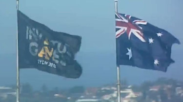 The Invictus Games flag now stands atop the Sydney Harbour Bridge alongside the Australian flag.