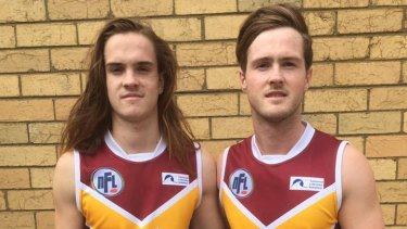 Brothers Patrick (left) and Lucas Cronin in the Lower Plenty guernsey.
