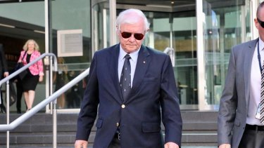 Dennis Glennon, the father of murdered woman Ciara Glennon, outside WA's District Court on Wednesday.