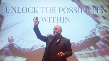 John Hanna markets himself as a wealth expert, motivational speaker and author.