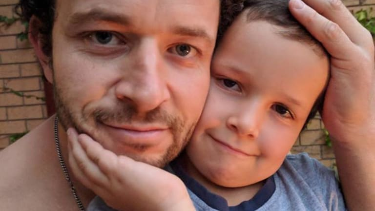 Cliff Mapham and his missing six-year-old son Phoenix.