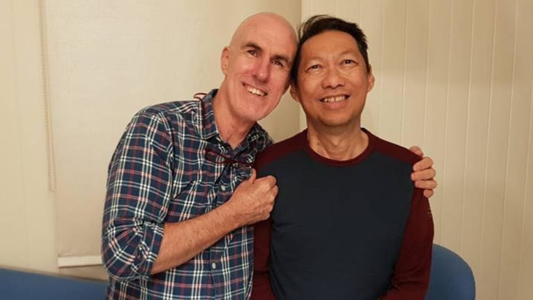 Pictured with his partner Peter, Tony Beret, right, features in documentary Dying to Live, which will shown at BIFF 2018.