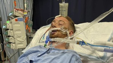 Danny Hodgson is in an induced coma in Royal Perth Hospital after a coward punch.