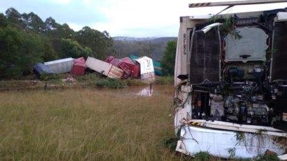 Freight train carrying 'dangerous goods' derailed near Coffs Harbour