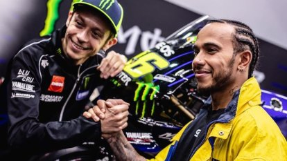 Hamilton and MotoGP great Rossi preparing for ride swap