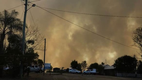 Water bombers called in as out-of-control bushfire rages near Gympie