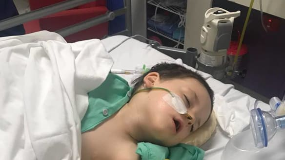Noah Armstrong was diagnosed with a burst appendix and intestinal malrotation on Thursday, nearly 24 hours after a misdiagnosis at St. John of God Midland.
