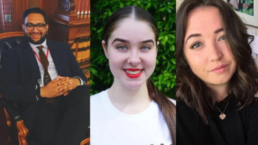 Mathai Joshi, Kate Crowley and Cate Farrant nominate youth unemployment as one of the biggest issues in their electorates.