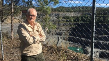Phil Best at the Mt Coot-tha quarry.