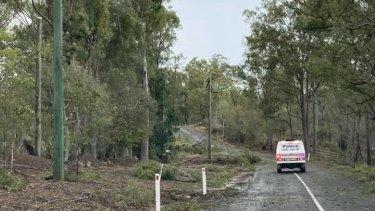 The storm swept through Ipswich in Queensland.