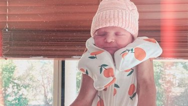 Robbie and Daisy Katter welcomed their first child on Monday, a girl named Peaches.