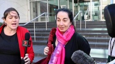 Carmen Barbagallo outside court on Wednesday.