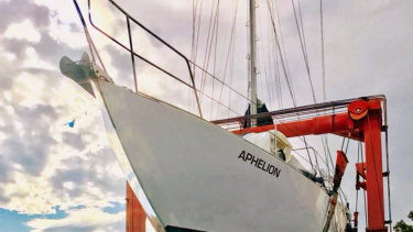 Glenn Druery's yacht Aphelion
