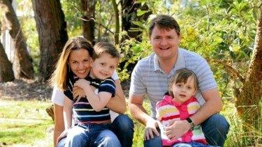 Maria Lutz and Fernando Manrique with their children, Martin and Elisa.
