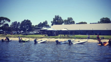 The WA Speed Boat Club held a meet on the Sunday.