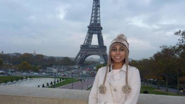 Chathudila, known as Chatu to her family and friends, in Paris a year before the bombings in Sri Lanka.