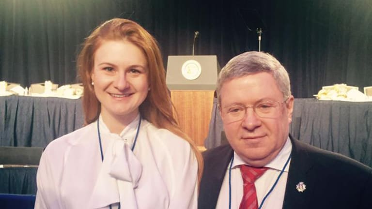 Maria Butina and Alexander Torshin, at the Washington Hilton in Feb 2017according to her Facebook page. Torshin,a  Russian senator, is a life member of the NRA and a link in Butina's powerful contacts.
