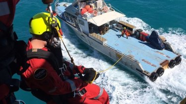 An example of the training exercise the crew were performing.