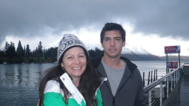 Julie Luezzi with her son Ross.