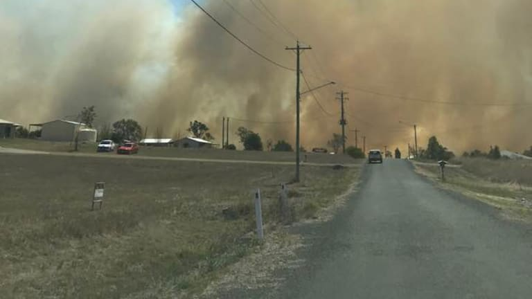 Locals north-west of Gympie say they haven't returned to their homes because of the smoke.