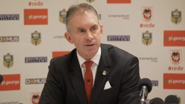 Brian Johnston will step down as chief executive of the St George Illawarra Dragons before next season.