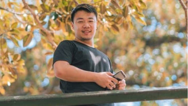 Former Sydney University student Weihong Liangnow attends a Chinese Communist Party training school in the Xinjiang region of China.
