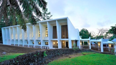 The Pacific Climate Change Centre in Samoa, funded by the Japan International Cooperation Agency and opened in September.