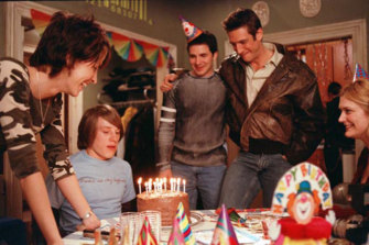 Birthday cake time in Davies' breakthrough show Queer as Folk
