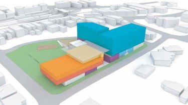The council's previously adopted masterplan for the hub that included a seven-storey unit block.