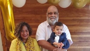 Sumith Premachandra pictured with members of his family.