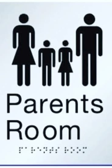The father was abused for being in the shopping centre parent room.