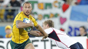 Precocious talent: Quade Cooper hopes to return to the Wallabies fold.