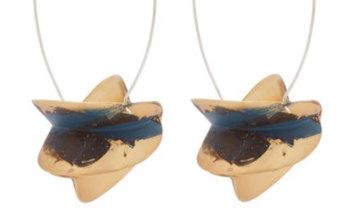 """Albus Lumen x Ryan Storer """"Painted Hoop"""" earrings."""