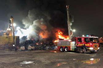 It took firefighters several hours to bring the blaze under control.