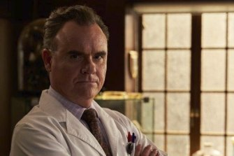 """""""There's a hero element to him"""": Darren Gilshenan as Dr Lyle Fairley in Harrow."""
