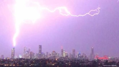 Thousands without power during lightning strikes in south-east Queensland