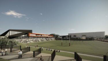 An artist's impression of the Concord Oval redevelopment in Sydney's inner west.