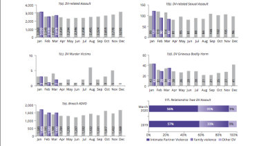Year-on-year comparison of domestic violence offences