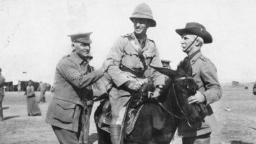 Setting the example: Former NSWRL secretary Ted Larkin (left), who was killed at Gallipoli.