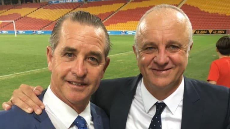 """""""Coach whisperer"""" Bradley Charles Stubbs with Graham Arnold."""