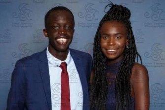 Machar Kot with his sister Anhial Kot.