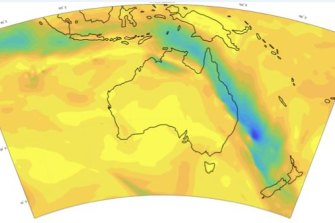 The atmospheric river event that soaked much of the Queensland coastal region in late 2010.