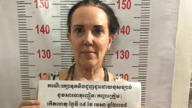 Rachel Prins was arrested on Monday night in the raid by Cambodian police on the Soul Train Reggae Bar.