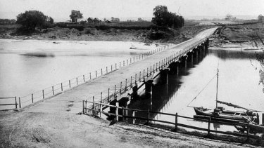 The heritage-listed Windsor Bridge over the Hawkesbury River was built in 1874.