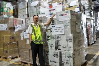 Sydney-based Kuang Yuanpin, a former Chinese military officer with a shipment of critical medical equipment going to China.