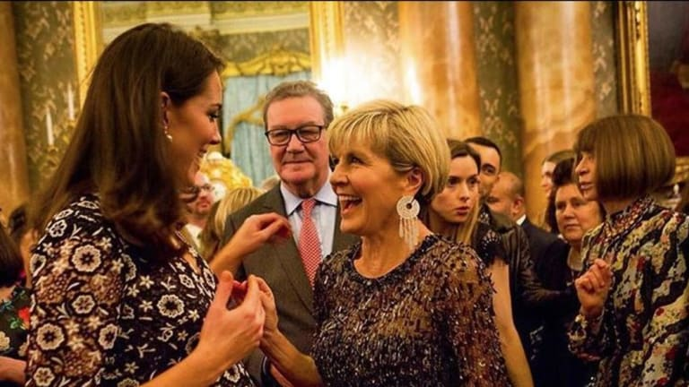 Julie Bishop meets the Duchess of Cambridge at a fashion event with Vogue editor Anna Wintour.
